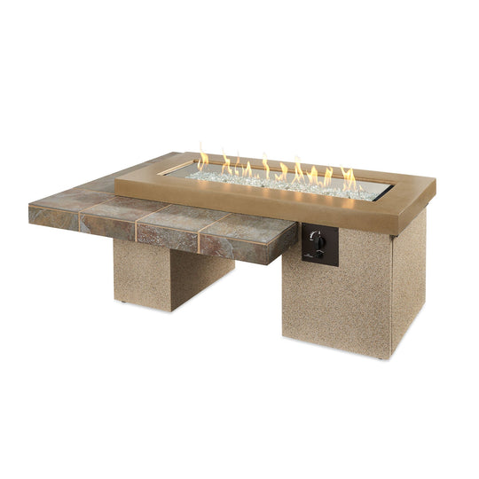 Uptown Linear Gas Fire Pit Table