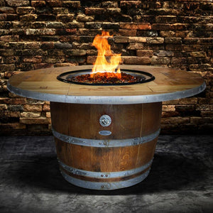 Vin de Flame Enthusiast Wine Barrel Gas Fire Pit Table