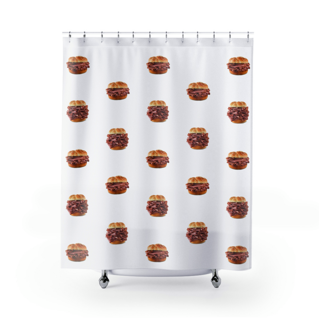 Roast Beef Shower Curtain by DINK Lab