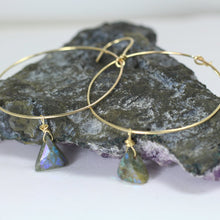 Labradorite Hoop Earrings by Stoneywear