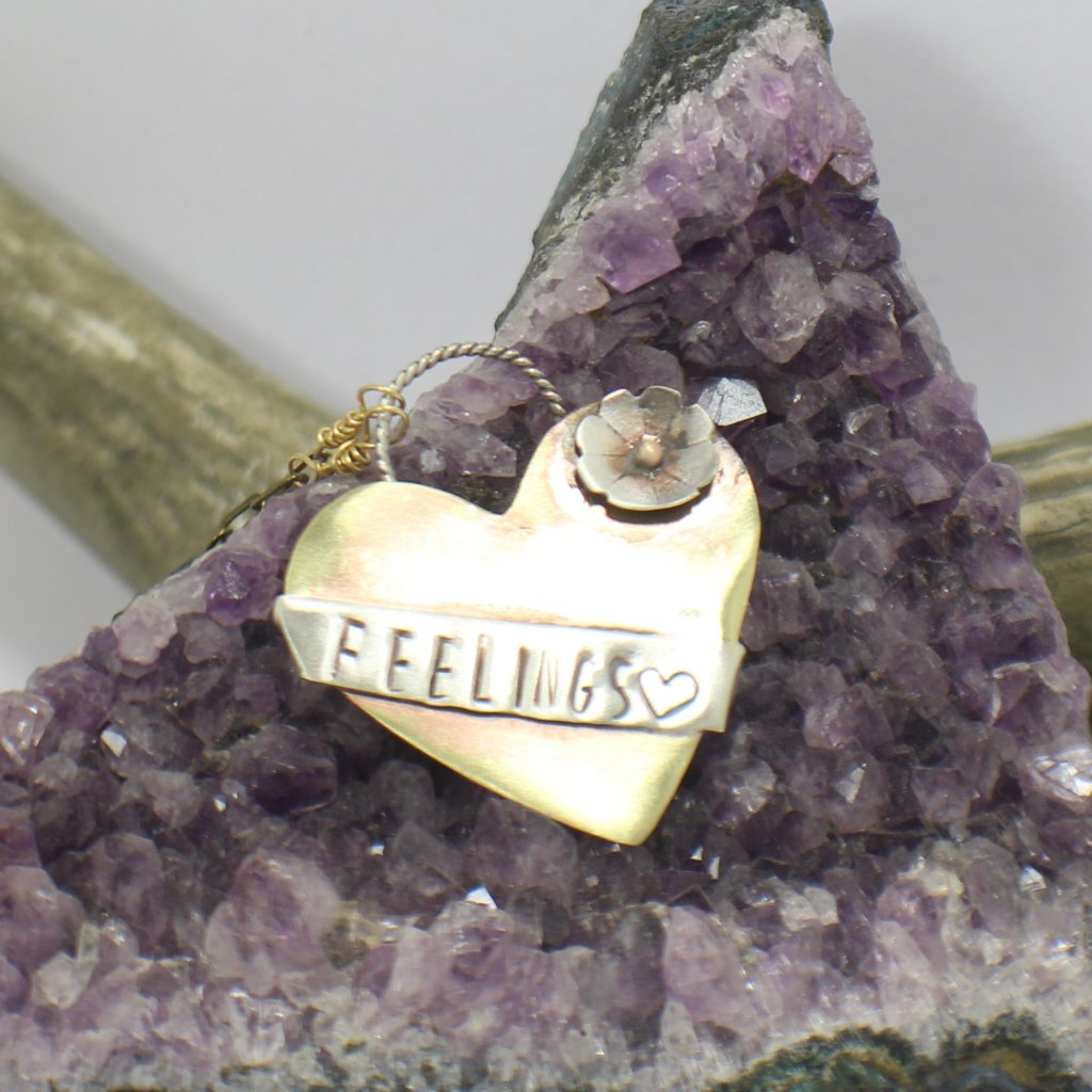 Feelings Banner Necklace by Stoneywear