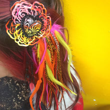 """Rainbow Warp HeART"" Feather Hair Clip"