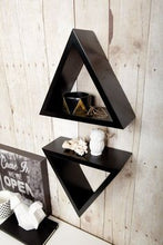 Custom Triangle Wooden Shelves (Painted)