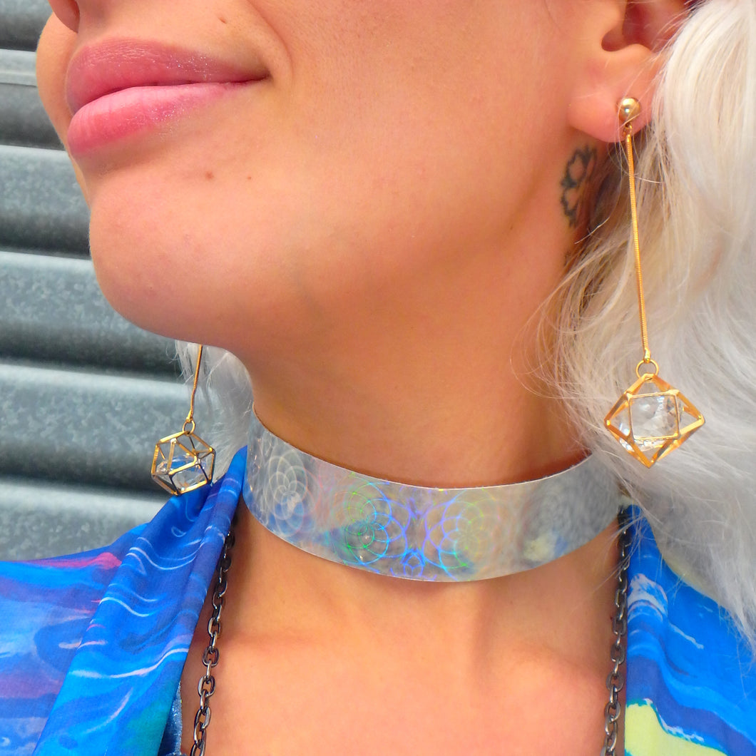 Cosmic Flower Power - Holographic Choker
