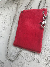 Red Leather Cross Body Purse