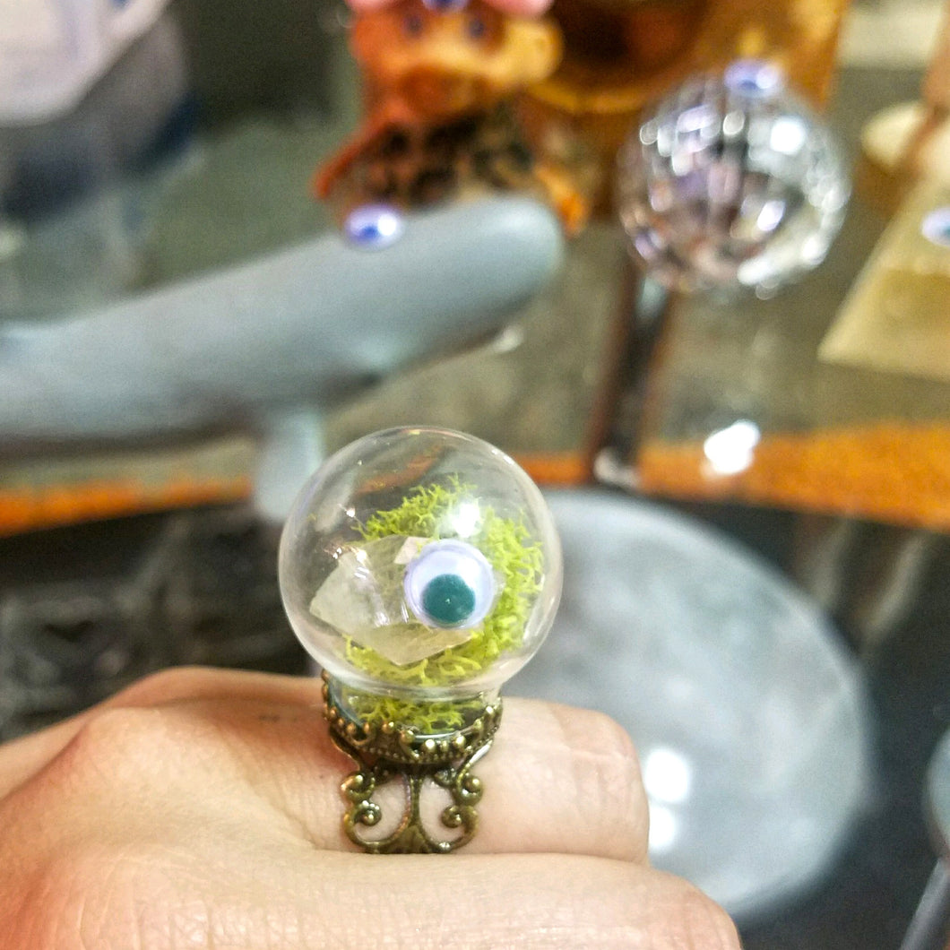 Woke Crystal Terrarium Ring