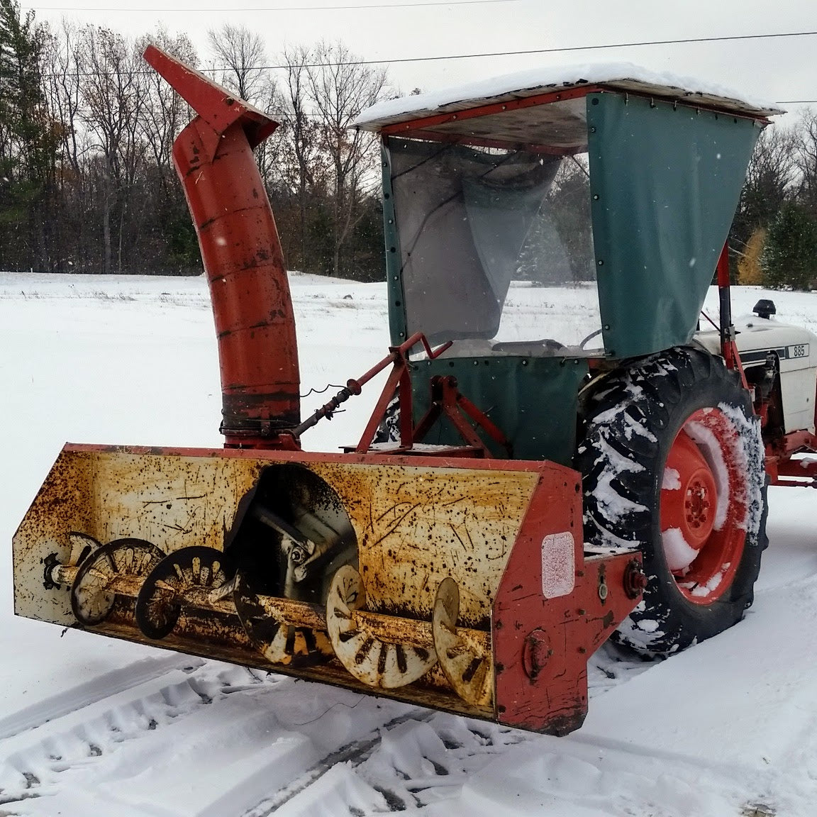Clearing Snow Finger Lakes Style with a Tractor