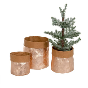Rose Gold Kraft Paper Baskets