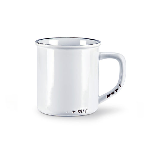 Enamel Look Mug - White