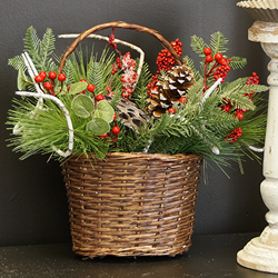 Holiday Decor Basket