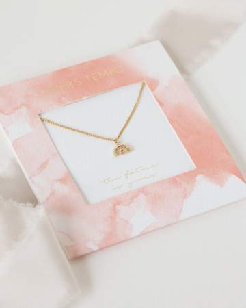 The Future is Yours Pave Necklace - Gold
