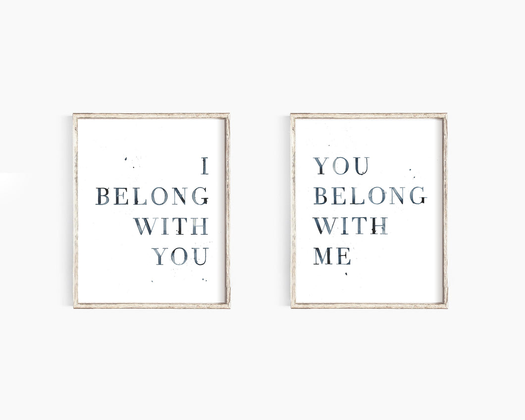 I Belong With You/You Belong With Me - Emma Allen Double Art Print