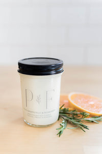 Pink Grapefruit & Rosemary PF Soy Candle