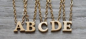 By The Letter Necklace - Gold