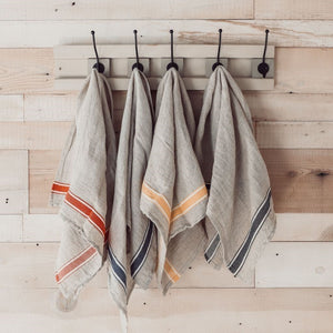 Linen Hand Towel - Denim