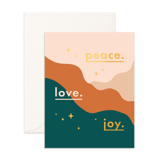 'Peace Love Joy' Christmas Greeting Card