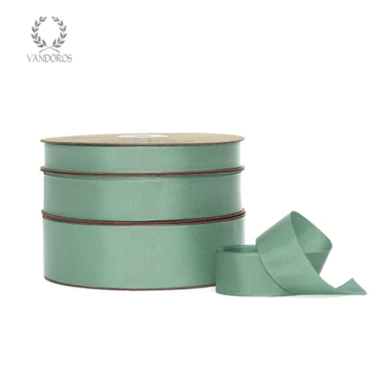 Essentials Grosgrain 'Eucalyptus' Ribbon