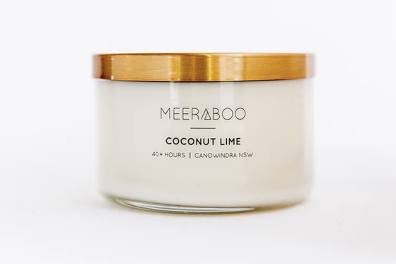 'Coconut Lime' Brass Lid Soy Candles