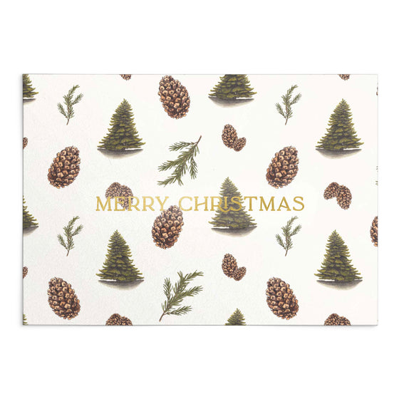 'Merry Christmas' Pine Forest Greeting Card (Shipping Mid Oct)