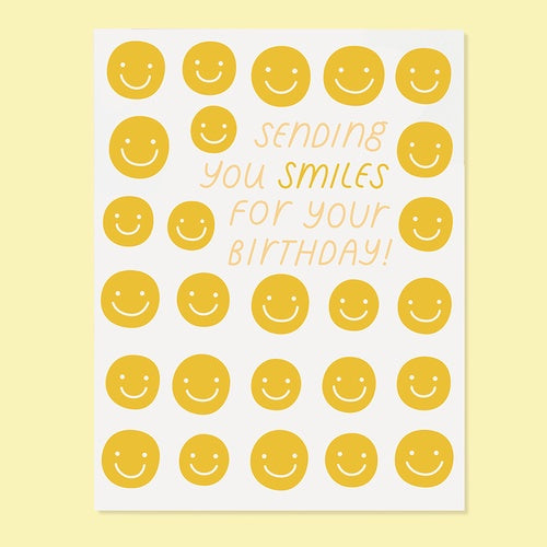 'Sending You Smiles For Your Birthday' Greeting Card