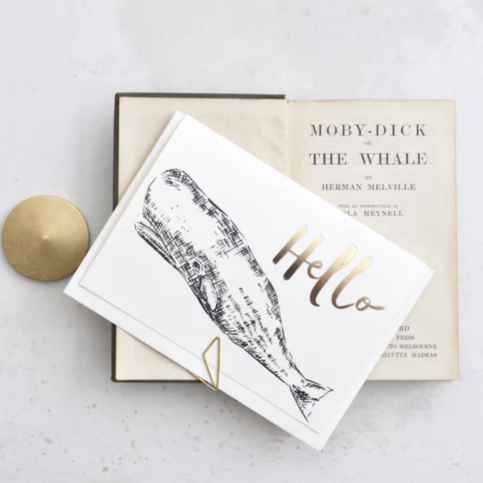 'Hello' Whale Greeting Card