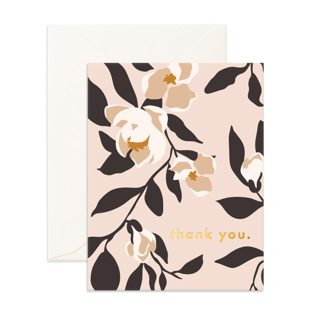 'Thank You' Magnolias Greeting Card