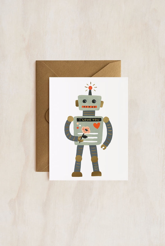 'Love Robot' Greeting Card