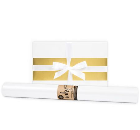 'Pearl' White Gift Wrap (10m Roll)
