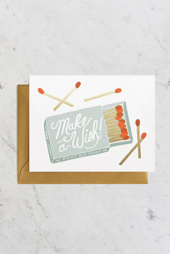 'Make A Wish Matches' Greeting Card