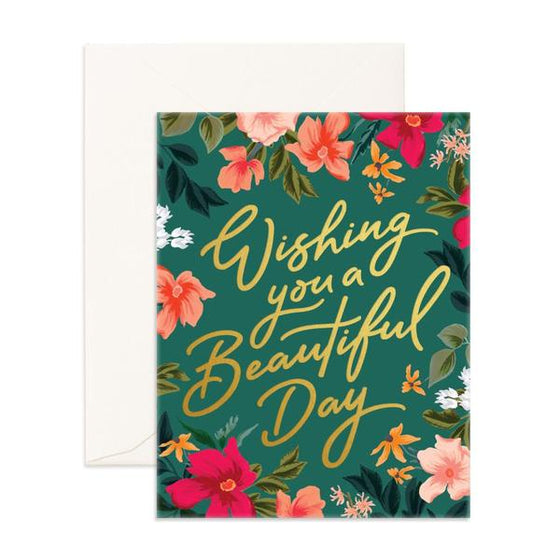 'Wishing You A Beautiful Day' Florentine Greeting Card