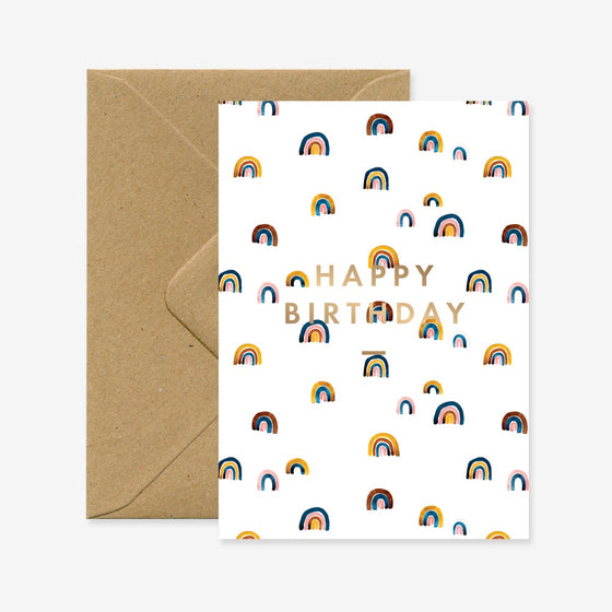 'Happy Birthday' Rainbows Greeting Card