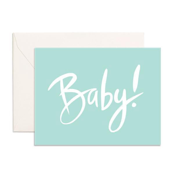 'Baby!' Blue Greeting Card