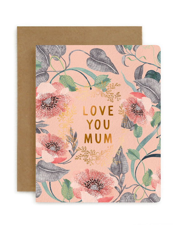 Blomstra 'Love You Mum' Greeting Card
