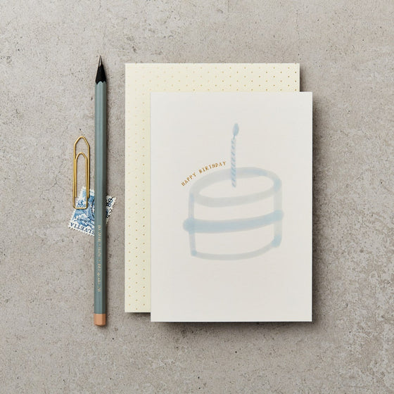 'Happy Birthday' Cake Greeting Card