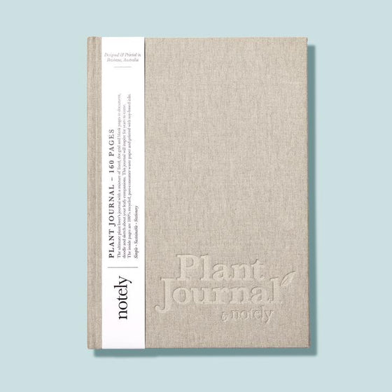 Plant Journal 'Soft Grey' Linen Hardcover