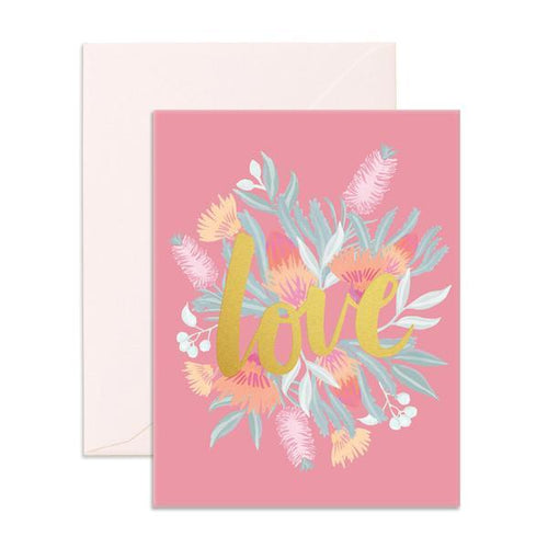 'Love Floral' Greeting Card