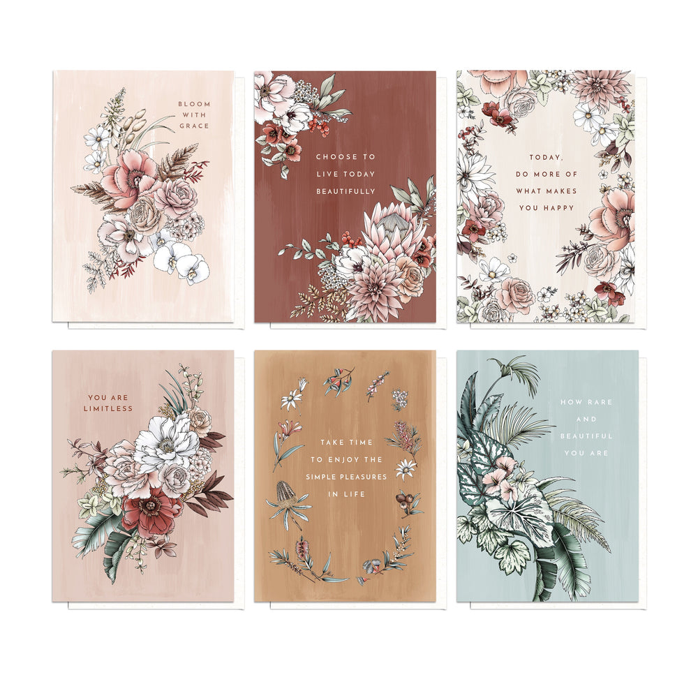 'Blooming with Kindness' Flat Notes Set (Pack of 6)