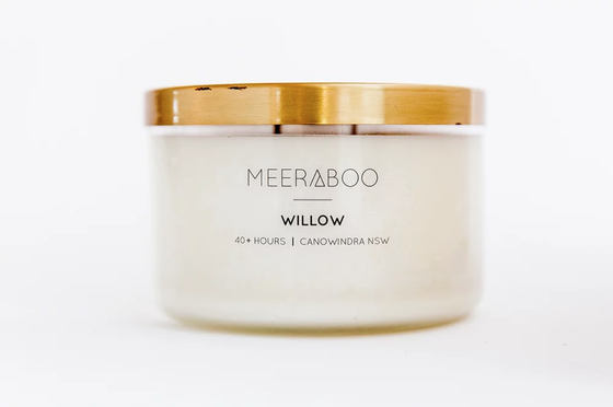 'Willow' Brass Lid Soy Candles