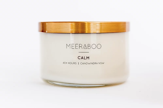 'Calm' Brass Lid Soy Candles