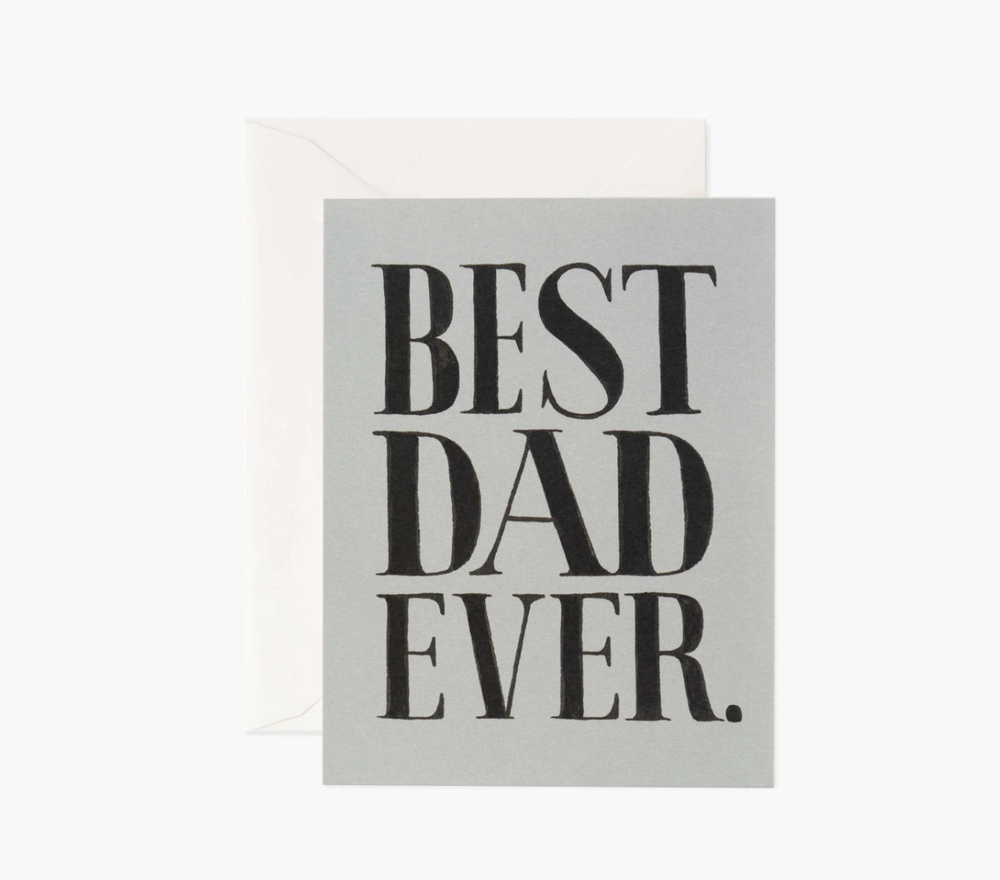 'Best Dad Ever' Greeting Card