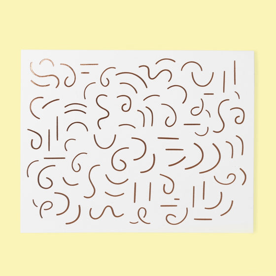 'Blank' Squiggles Greeting Card