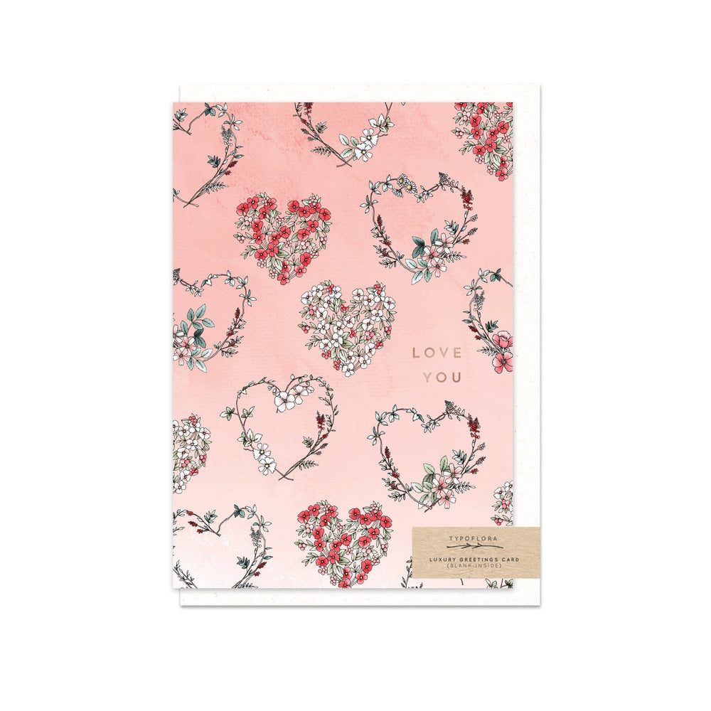 Hearts 'Love You' Greeting Card