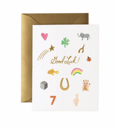 'Good Luck Charms' Greeting Card