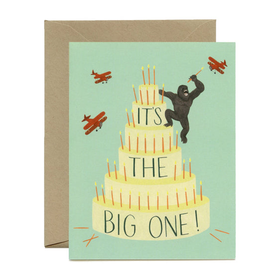 'It's The Big One' Kong Greeting Card