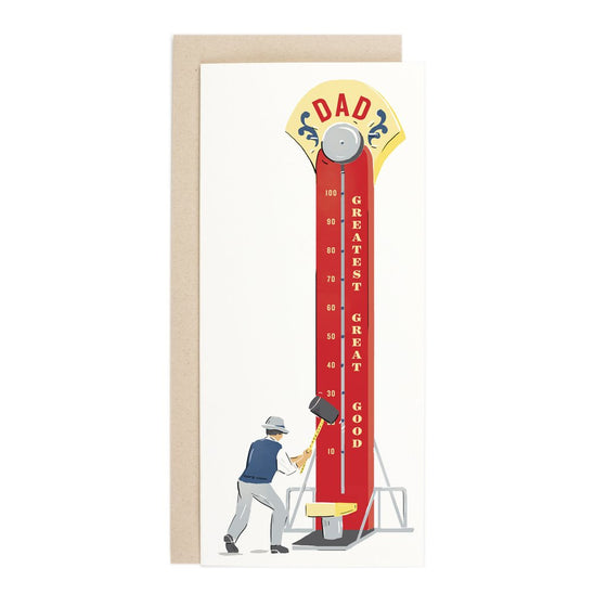 'Dad' Strength Tester Greeting Card
