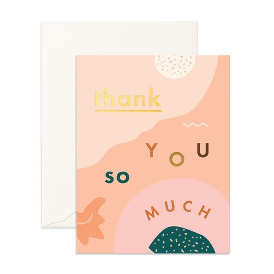'Thank You So Much' Abstract Greeting Card