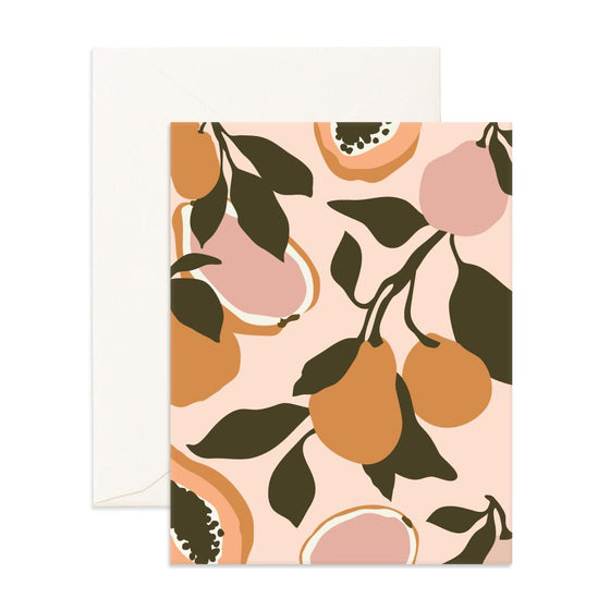 Blank 'Golden Fruits' Greeting Card