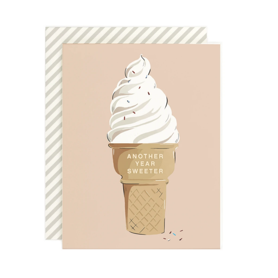 'Another Year Sweeter' Icecream Greeting Card