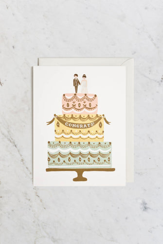 'Congrats Wedding Cake' Greeting Card
