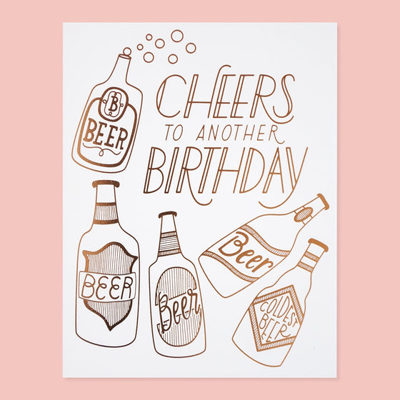 'Cheers' Birthday Greeting Card